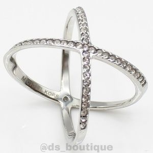 Michael Kors pavé X ring